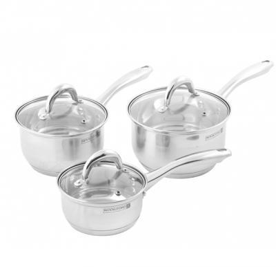 Royalford Rfu9054 6Pc Ss Sauce Pan Set 14+16+18cm - 1x4