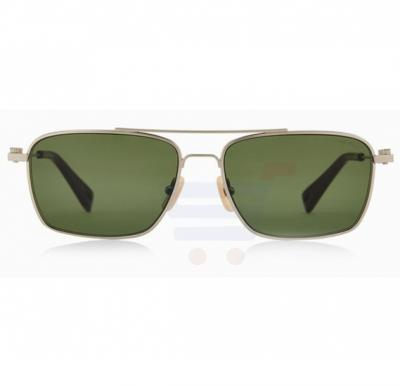 G-Star Rectangular Silver Frame & Green Gradient Mirrored Sunglasses For Unisex - GS113S4-045