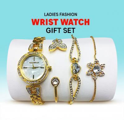 Ladies Fashion Wrist Watch Gift Set, Assorted