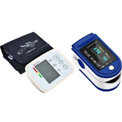 2 In 1 Elony ELY106 Intelligent Arm Type Blood Pressure Meter And Fingertip Pulse Oximeter Blue And White, LK87