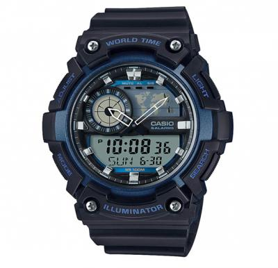 Casio AEQ-200W-2AVDF Youth-Combination Analog-Digital Blue Dial Mens Watch