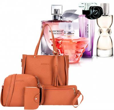2 in 1 Fashion Pack of Jingpin bag and 4 piece Perfume Gift set