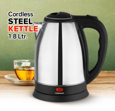 Magnum Cordless Steel Kettle 1.8 Ltr.