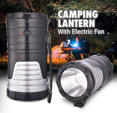 Rechargeable Solar Camping Lantern With Electric Fan Egg Tube USB Interface, GSH-7299F