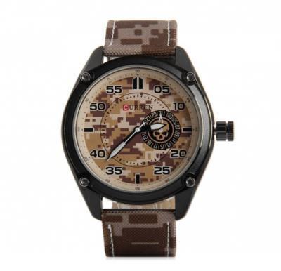 Curren 8183 Leather Strap Mens Watch