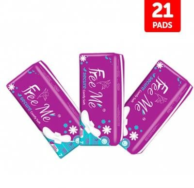 3 in 1 Bundle Offer Free Me Lady Sanitary Pads - 21 Pcs