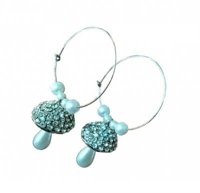 Nora Earrings Handmade with Stones Set  -  A0098