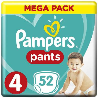 Pampers Pants Diapers, Size 4, Maxi, 9-14 kg, Jumbo Pack, 52 Count,30153