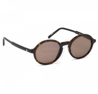 Mont Blanc Rectangular Havana Frame & Brown Gradient Mirrored Sunglasses For Woman- MB601S-52J