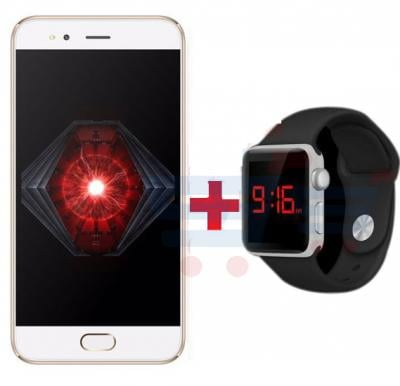 Bundle Offer Lenosed N7 Smartphone, Android, 5.0 Inch FW Display, 1GB RAM, 8GB Storage, Dual Camera, Gold And Zooni Multi Color LED Touch Stylish Unisex Resin Band Watch Free