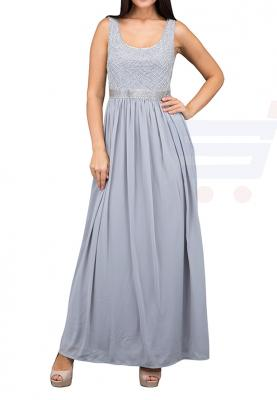 TFNC London Shae Maxi Evening Dress Grey - LNB 30670 - XL