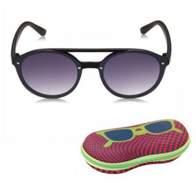 TFL Eyewear Round Men Sunglasses, 25487-Black