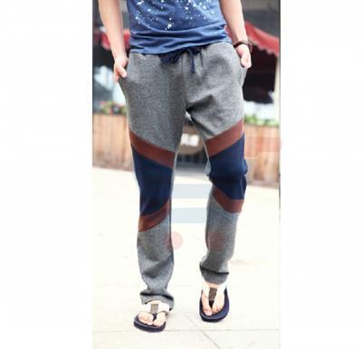Mens CROSS Patch Designer Trouser Charcoal Grey - 2657 - S