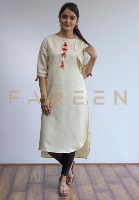 Ruky Fareen Long Top Full Sleeve Kurthees Cotton - RF 123 - S