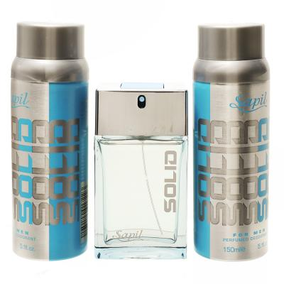 Sapil Solid Edt 100ml+Solid Deo 2x150ml