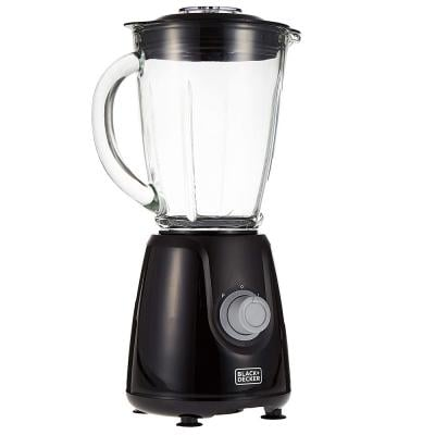 Black+Decker BX440GB5, 400W Blender with Glass Jar and 2 Grinding Mill