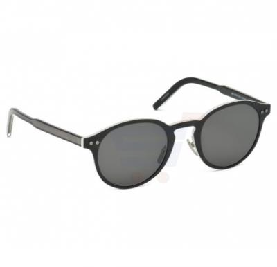 Mont Blanc Rectangular Black Frame & Brown Gradient Mirrored Sunglasses For Unisex - MB584S-02A