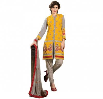 Glossy 1010 Cotton Embroidery Suit