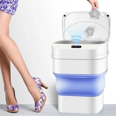 Smart Sensor Induction Folding Trash Can