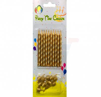 Party Time Gold Candle N002-2