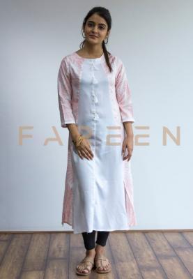 Ruky Fareen Long Top Full Sleeve Kurthees Cotton - RF 116 - L