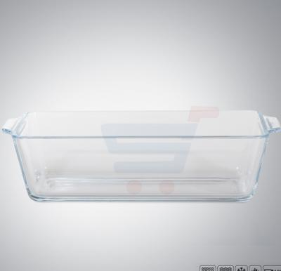 Royalford Rectangle Glass Loaf Dish .8Ltr - RF8808