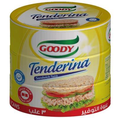 Goody Tenderina Sandwich Tuna Value Pack, 3X160 gm