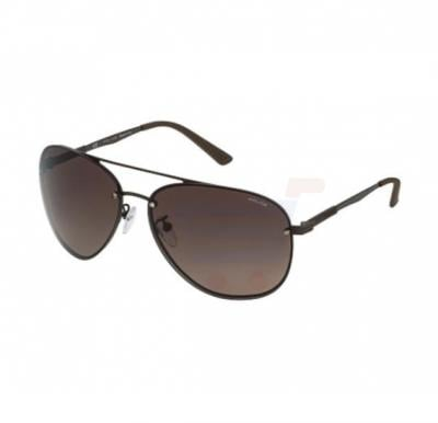 Police Aviator Dark Brown Frame & Brown Gradient Mirrored Sunglasses For Unisex - SPL379-90LP