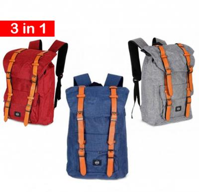 3 in 1 Okko casual Backpack 18 inch Blue, Red & Grey color