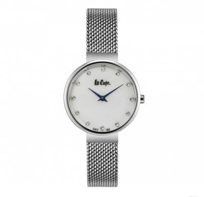 Lee cooper Ladies Stainless Steel  case, Silver Mop Dial, Stainless Steel Mesh Bracelet, LC06625.320