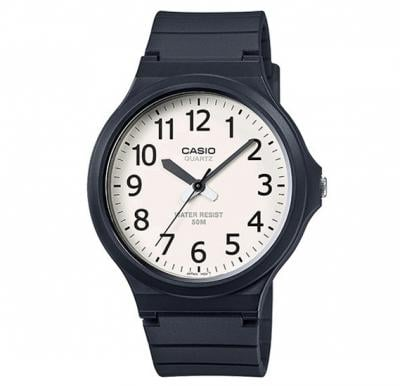 Casio Glass Face Resin Band Analog Watch For Unisex, MW-240-7BVDF