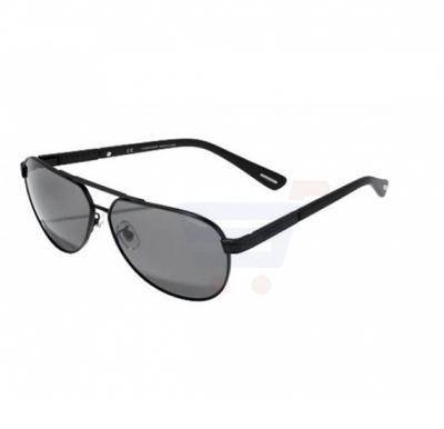 Chopard Aviator Black Semi Matte Frame & Grey Gradient Mirrored Sunglasses For Unisex - SCHB28-531P