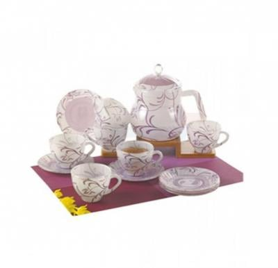 Flamingo Glass Ware Tea Set 14 PCS - FL8426GTS
