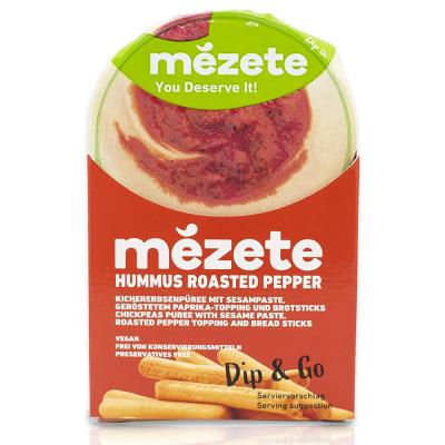 Mezete 12058 Hummus with Rosted Pepper (Snack Pack)