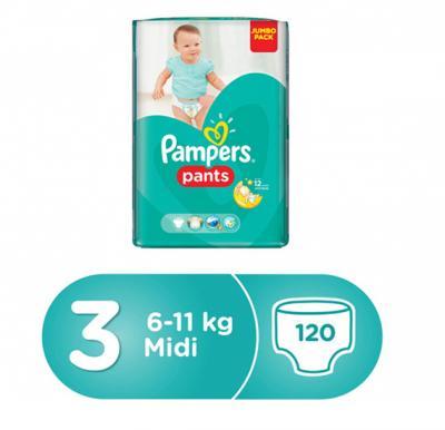 Pampers Pants No.3  Jumbo Pack Medium (6-11kg) 120pcs