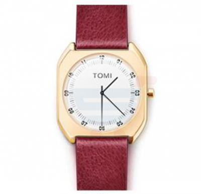 TOMI Luxury Quality Quartz Leather Watch for Women And Men T068, Maroon