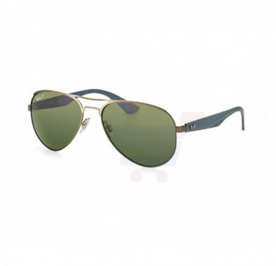 Ray-Ban Aviator Gunmetal Frame & Green Mirrored Sunglasses For Women - RB3523-029-9A-59