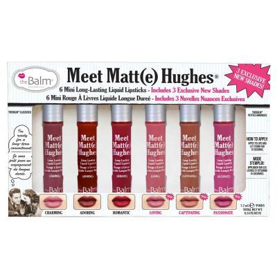 The Balm Meet Matte Hughes Set of 6 Mini Liquid Lipsticks, TBM107COS00384