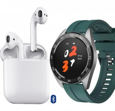 2 in 1 Offer X10 Smartwatch With Fitness Tracker + I12 TWS True Wireless Mini Bluetooth Air Pods