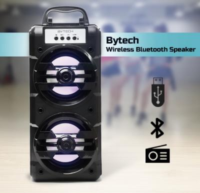 Bytech Universal Wireless Bluetooth Speaker with Multi Colorful Flashing Lights, Alshand