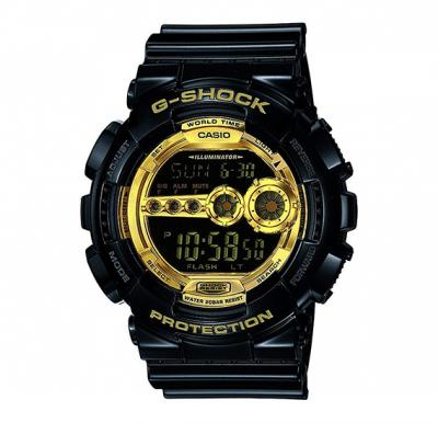 Casio G-Shock Digital Gold Dial Mens Watch - GD-100GB-1DR