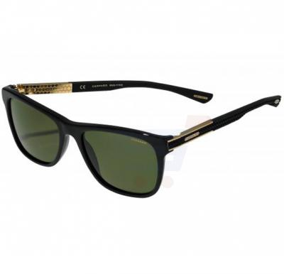 Chopard Rectangle Black Gold Frame & Green Colour Mirrored Sunglass For Unisex  - SCH218-700P