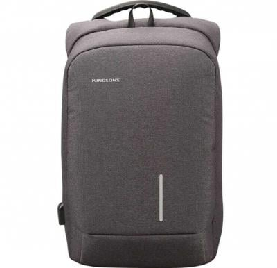 Kingsons KS3149W-DG Smart Backpack 15.6 inch With Usb Port- Dark Grey