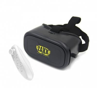 Zakk 3D VR Box with Remote Controller - Virtual Reality Comes Alive-Black
