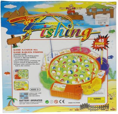 Fishing Game Toy Set, 45 Fishers 5 Player – Multicolor