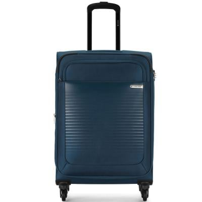 Carlton Cooper 66cm, 4 Wheel Spinner Medium Size Trolley Soft Case, COOPER66BU, Blue