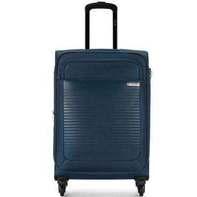 Carlton Cooper 66cm, 4 Wheel Spinner Medium Size Trolley Soft Case, COOPER66BU, Blue