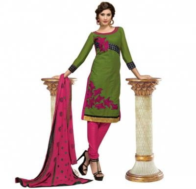 Glossy 1009 Cotton Embroidery Suit