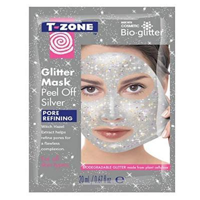 T-Zone Silver Glitter Peel Off Mask Pore Refining 20ml, TZN0012293