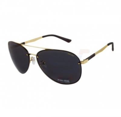 Police Black Aviator Gold Frame & Mirrored Sunglasses For Woman - SPL379-0300